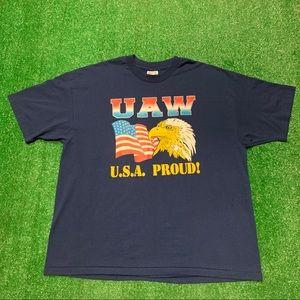 Vintage 90s UAW Union New York Single Stitch Shirt